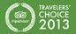 Travelers' Choice Award 2013