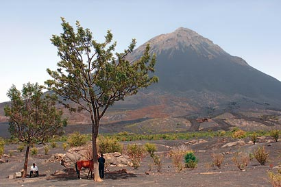 Volcano on Island of Fogo