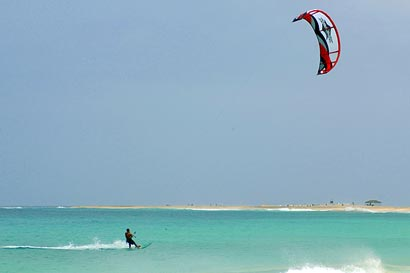 Kite Surfing in Cape Verde