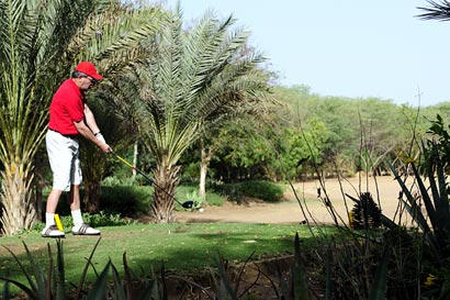Playing golf in Senegal