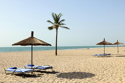 Beach at Le Royal Lodge Hotel, Sine Saloum