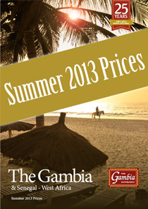 Gambia Experience Summer 2013 price sheet