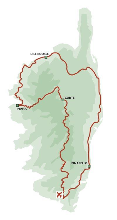 Tour Corsica Mountains v Beaches